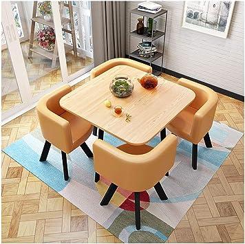 Mesa de Comedor Y Silla Combinación 1 Mesa Y 4 Sillas de Oficina ...