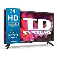 TD Systems K24DLG12HS - Televisores Smart TV 24 Pulgadas HD Android 9.0 y HBBTV, 800 PCI Hz, 2X HDMI, 2X USB. DVB-T2/C…