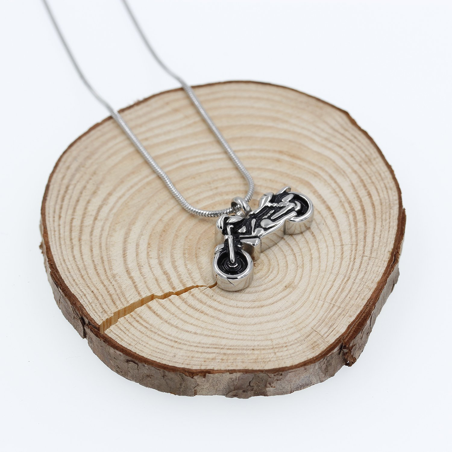 Hufan Motorcyle Cremation Jewelry for Ashes with Funnel and Chain by Hufan (Image #5)