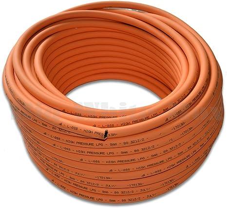 5 Metre - 8 mm de grosor para tuberías de Gas - caravana Camping - GLP/propano/butano/para limpiar la barbacoa