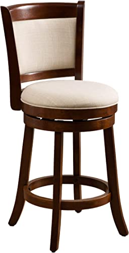 Christopher Knight Home Nazir Fabric Swivel Armless Counter Stool, Beige