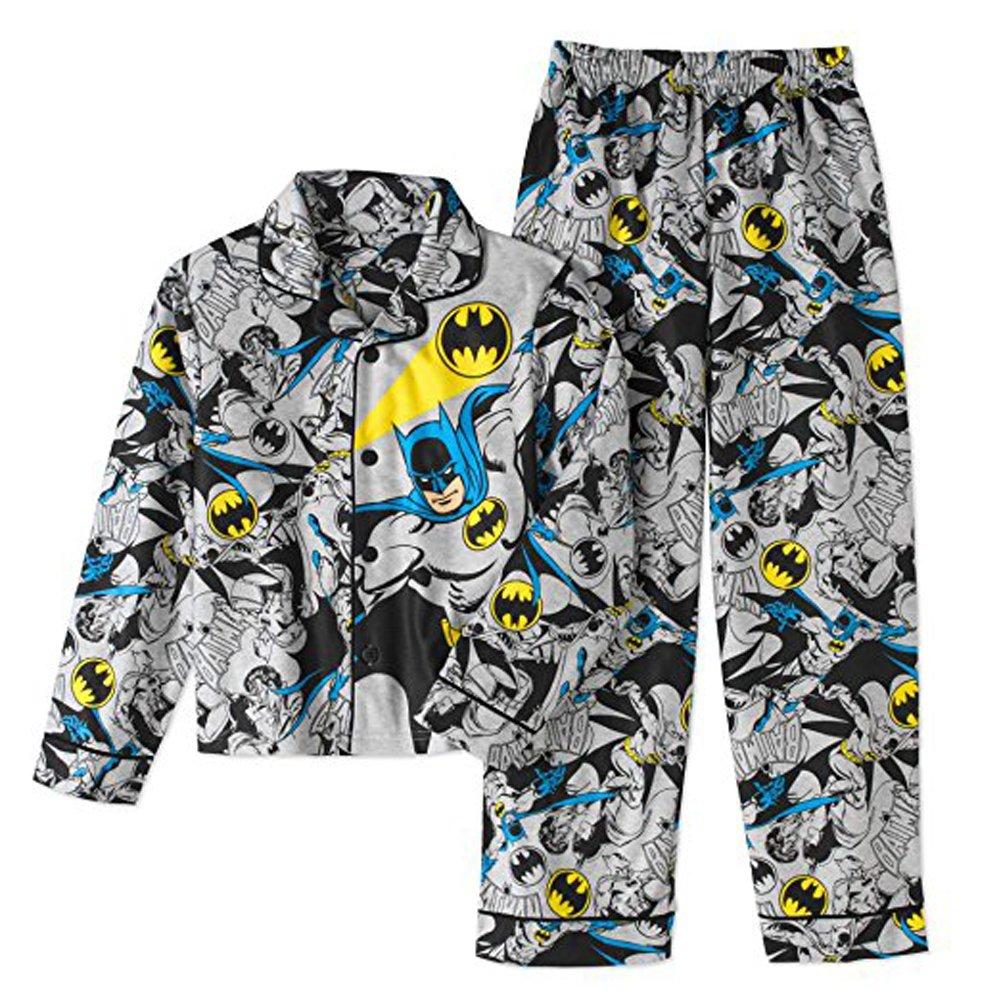 Batman Big Boys Coat Pajama Set (10/12)