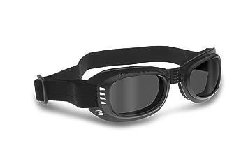 Bertoni - Gafas de moto con lentes anti golpes, antivaho – goma elá