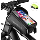ROCKBROS Bike Phone Front Frame Bag Bicycle Bag Waterproof Bike Phone Mount Top Tube Bag Bike Phone Case Holder…