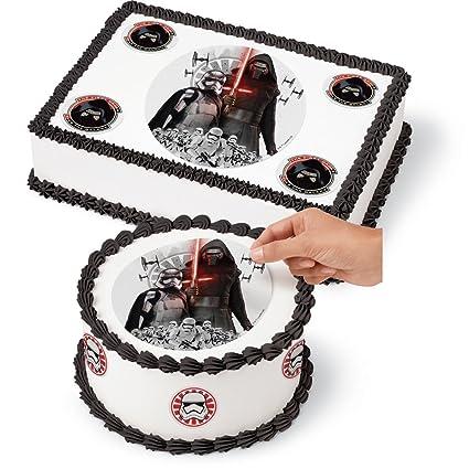 Amazoncom Large Edible Cake Decoration Kit Sugar Sheets Star