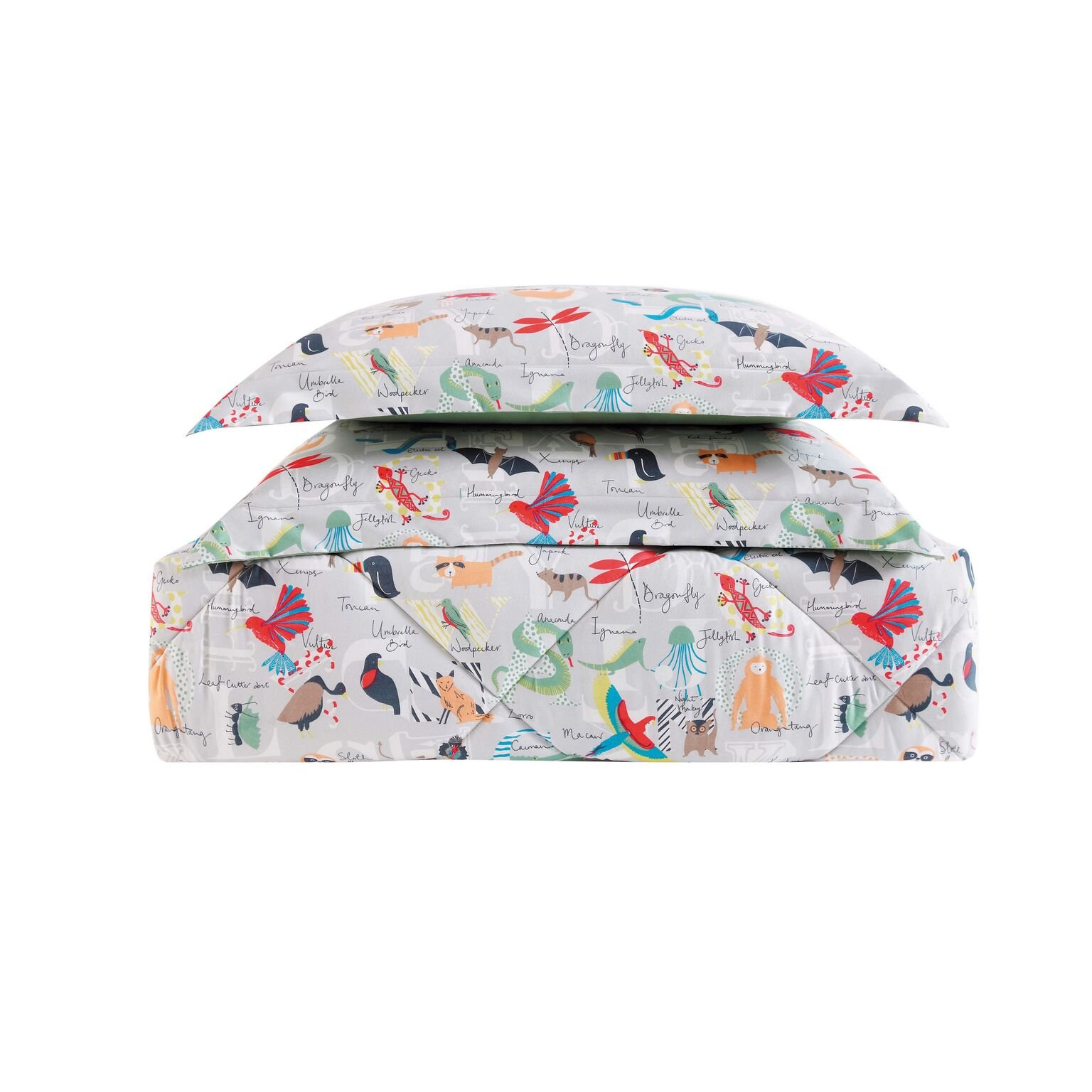 Laura Hart Kids Comforter Set, Twin/Twin XL, Animal Alphabet by Laura Hart Kids (Image #3)