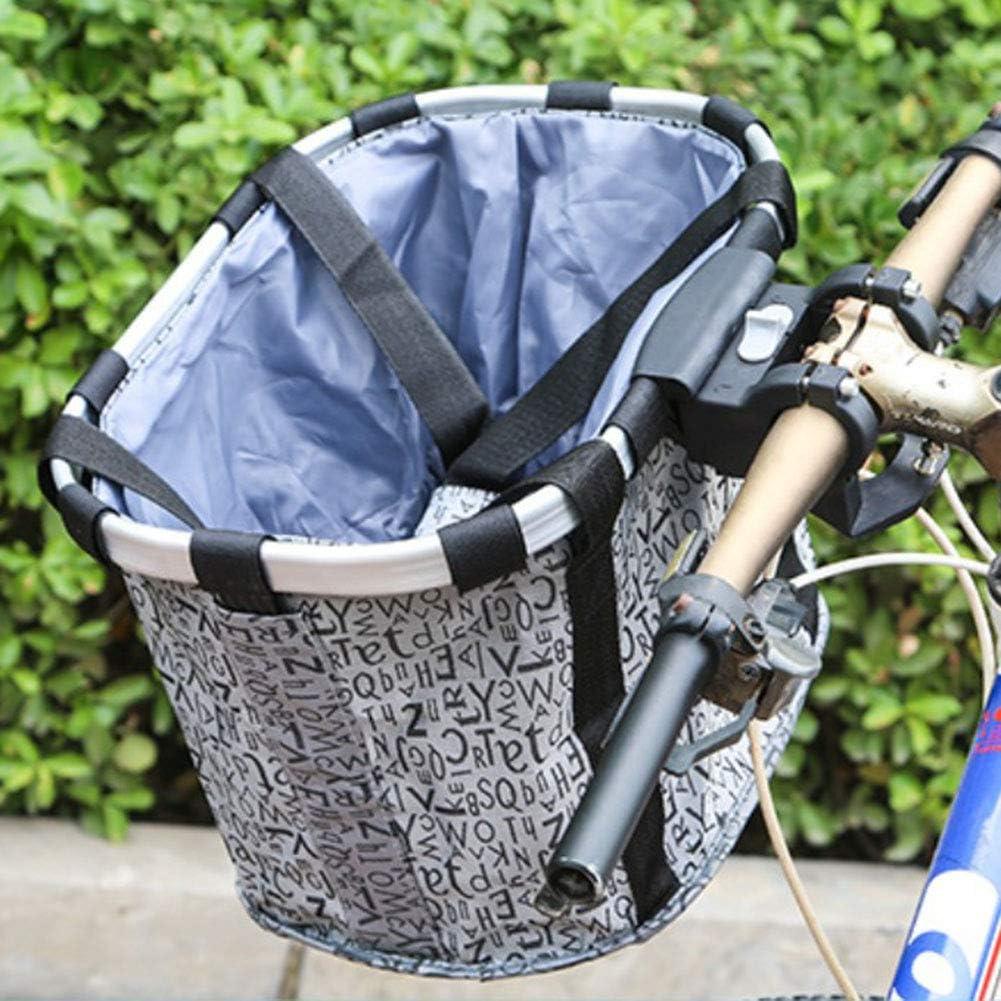 cesta para perros peque/ños Cesta plegable para bicicleta delantera cesta desmontable picnic gatos cesta para manillar plegable para bicicleta para mascotas