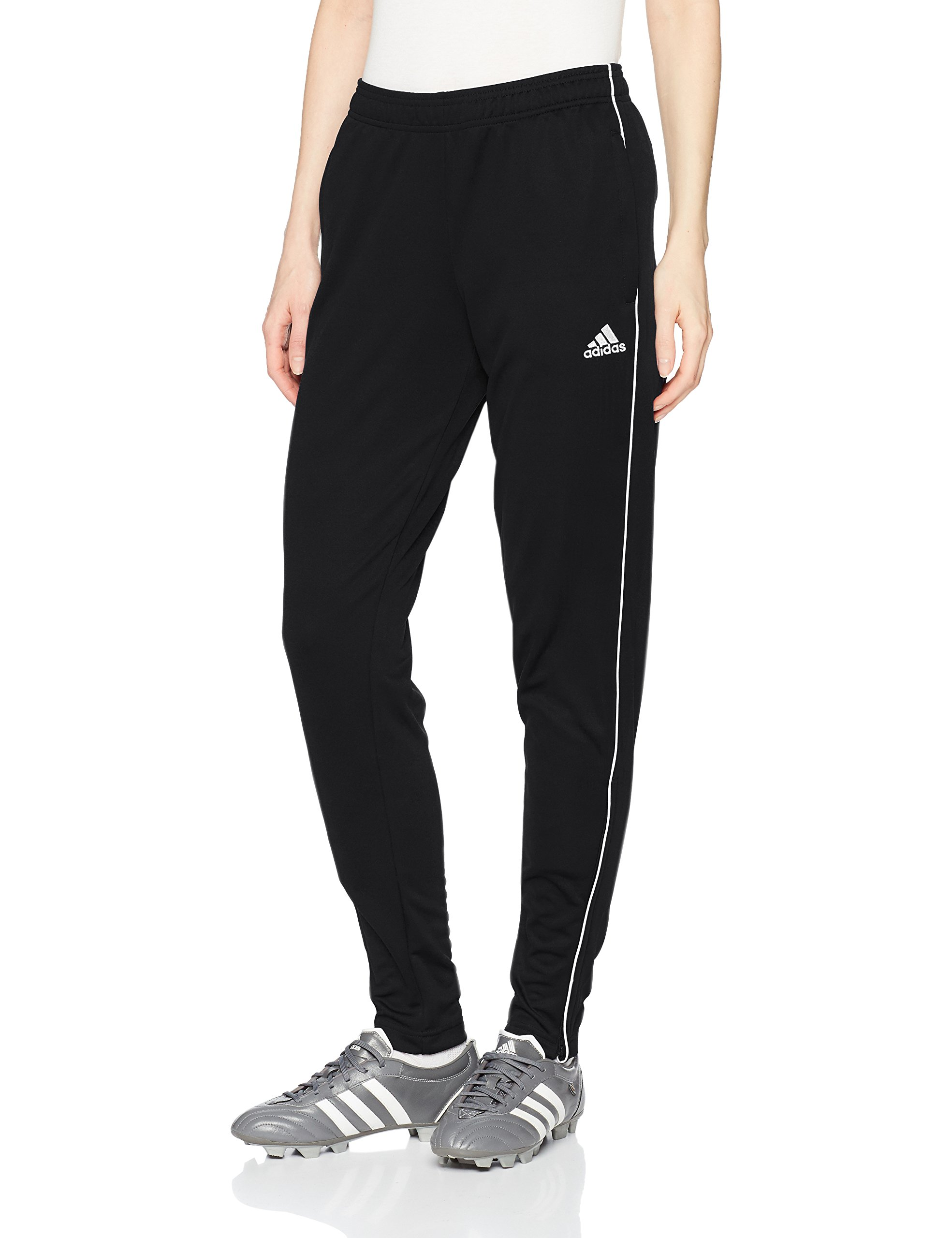 adidas Women's Core18 Training Pants, Black/White, Large