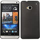Cubix Translucent Series 0.3 MM Ultra Thin Matte Case Back Cover for HTC One M7 (Black)