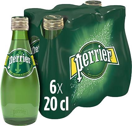 Perrier Agua Mineral Natural con Gas - Pack de 6 x 20 cl - Total: 120 cl: Amazon.es: Alimentación y bebidas