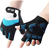 Cycling Gloves, Shock Absorbing Non-slip Bike Fingerless Gloves Suitable for Cycling, Boxing, Mountaineering and Climbing