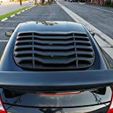 Windshield Louver Fits 2009-2019 Nissan 370Z | IKON Style Rear Window Louvers Cover Sun Shade ABS by IKON MOTORSPORTS | 2010 2011 2012 2013 2014 2015 2016