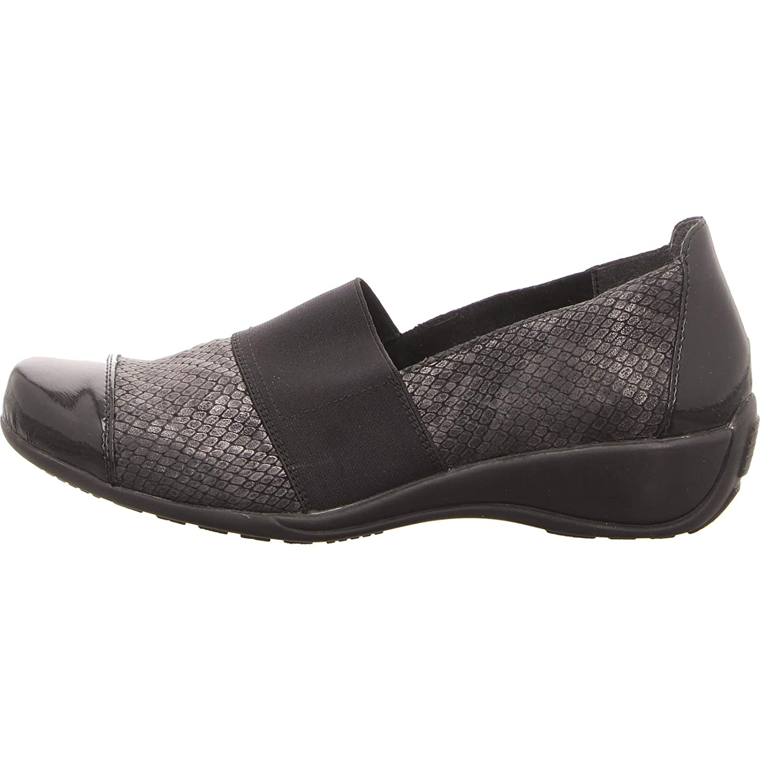 9ddb0997 REMONTE Women's Leather Elasticated Slip On Shoe (R9827-45): Amazon.co.uk:  Shoes & Bags