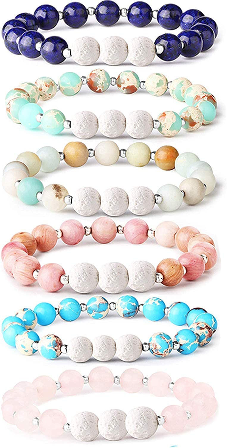 Healing Stones Gift Lava Bead Bracelets Coral Serpentine Bracelet Essential Oil Diffusers Aroma Diffuser Jewelry Aromatherapy Bracelets