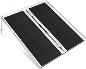 ORFORD Non Skid Wheelchair Ramp 3FT, Utility Mobility Access Threshold Ramp for Home Steps Stairs Doorways Scooter