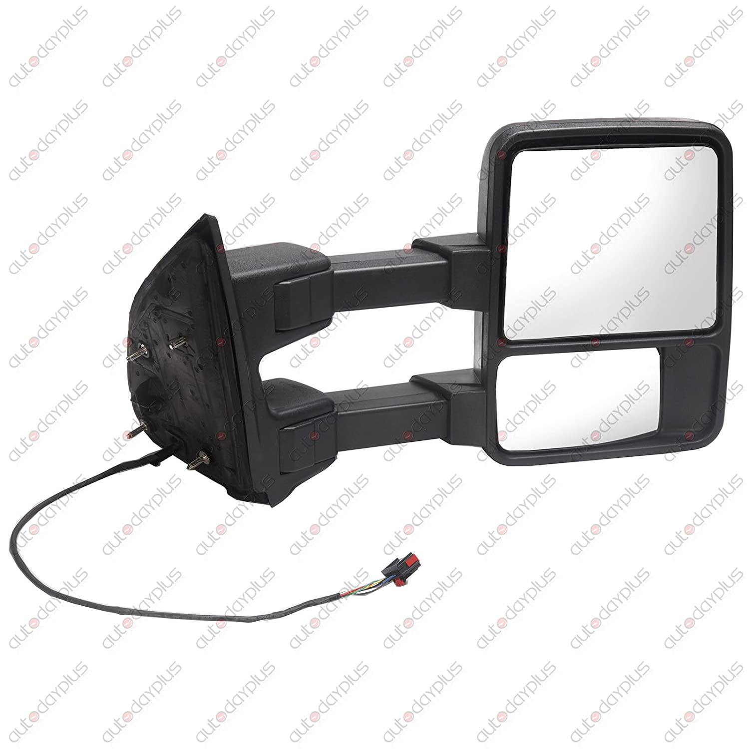 SCITOO Passenger Side View Mirror Manual Led Smoke Signal Lamps Towing Mirror fit 2008-2016 Ford F250 F350 F450 F550 Super Duty Pickup