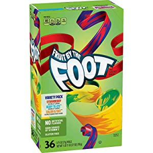 Betty Crocker Fruit Snacks Fruit By The Foot Strawberry/Berry Tie-Dye/Color By The Foot, 27 Oz, 36Count - pack of 2
