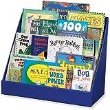 "Classroom Keepers Book Shelf, 3-Tiered, Blue, 17""H x 20""W x 10""D"