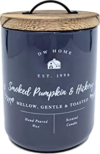 Smoked Pumpkin and Hickory Scented Candle with a Wooden Lid