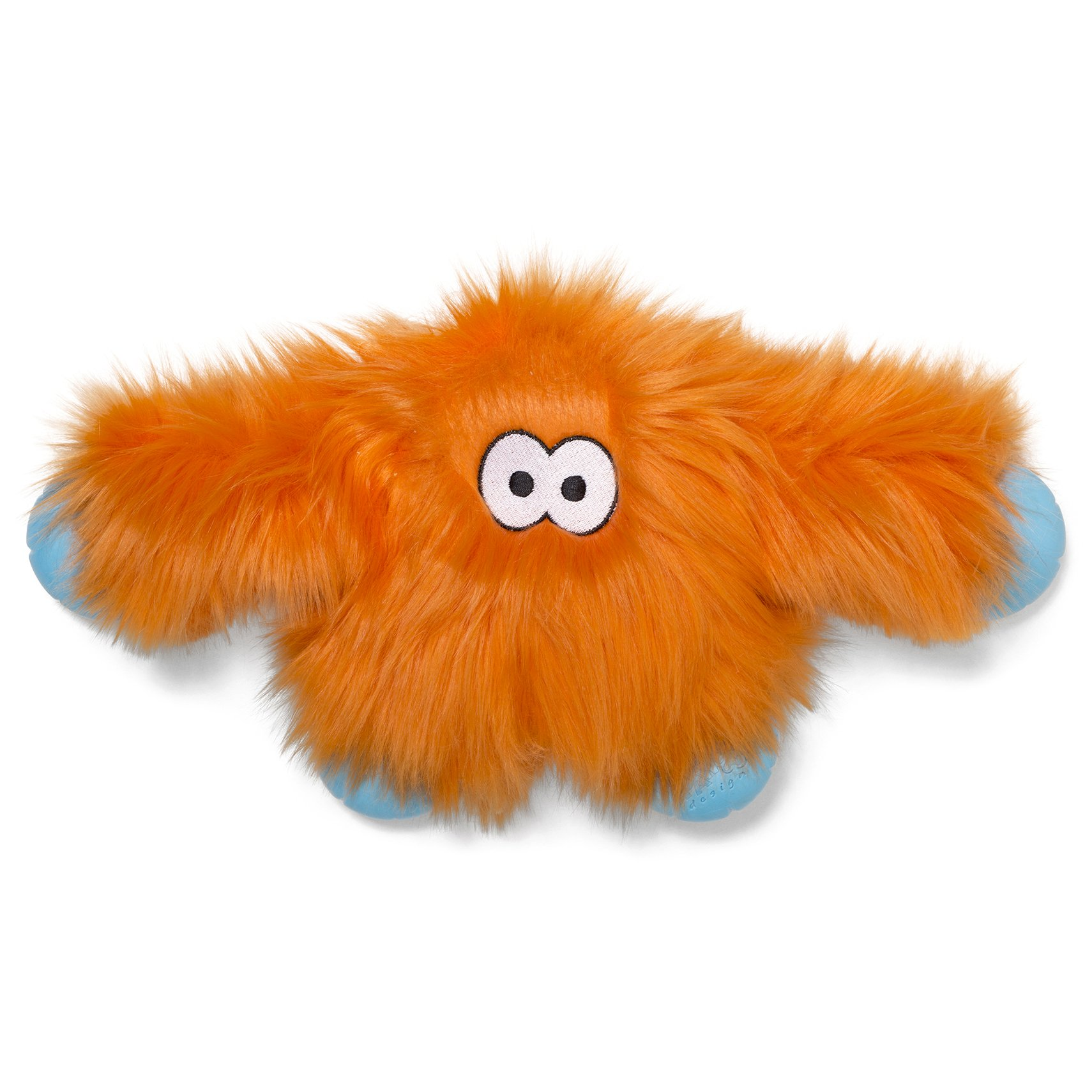 West Paw Rowdies with HardyTex and Zogoflex, Durable Plush Dog Toy for Medium to Large Dogs, Jefferson, Orange Fur