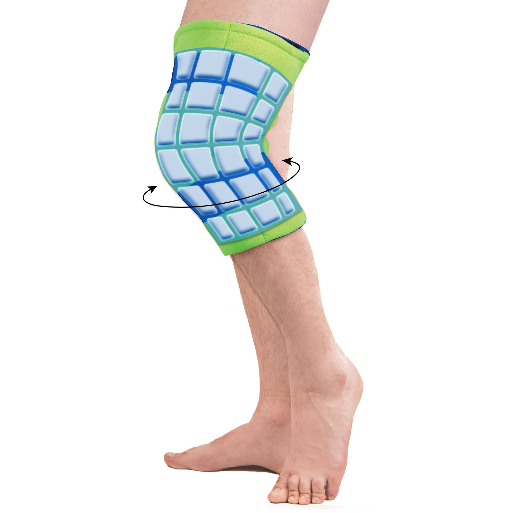 Polar Ice Large Knee Wrap Cold Therapy Wearable Ice Pack Adjustable Hook and Loop Closure (Color May Vary) by Brownmed (Image #3)
