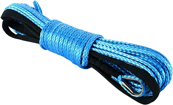 Freetec Synthetische Seilwinde 7700lbs Seilwinde Mit Haken Für Atv Utv Offroad 6 Mmx15 M Auto