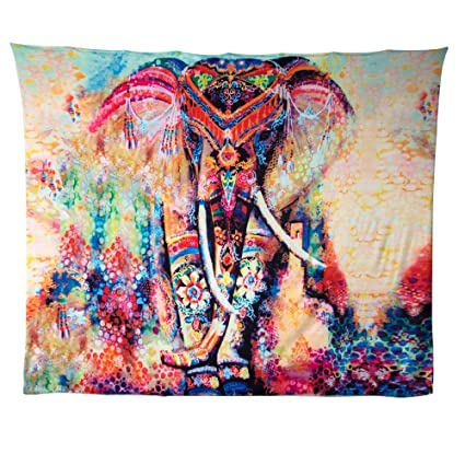 a4323719a8 Amazon.com: GoodPing Indian Bohemian Elephant Tapestry Decor Home Hippie  Tapestry Wall Hanging (BM): Home & Kitchen