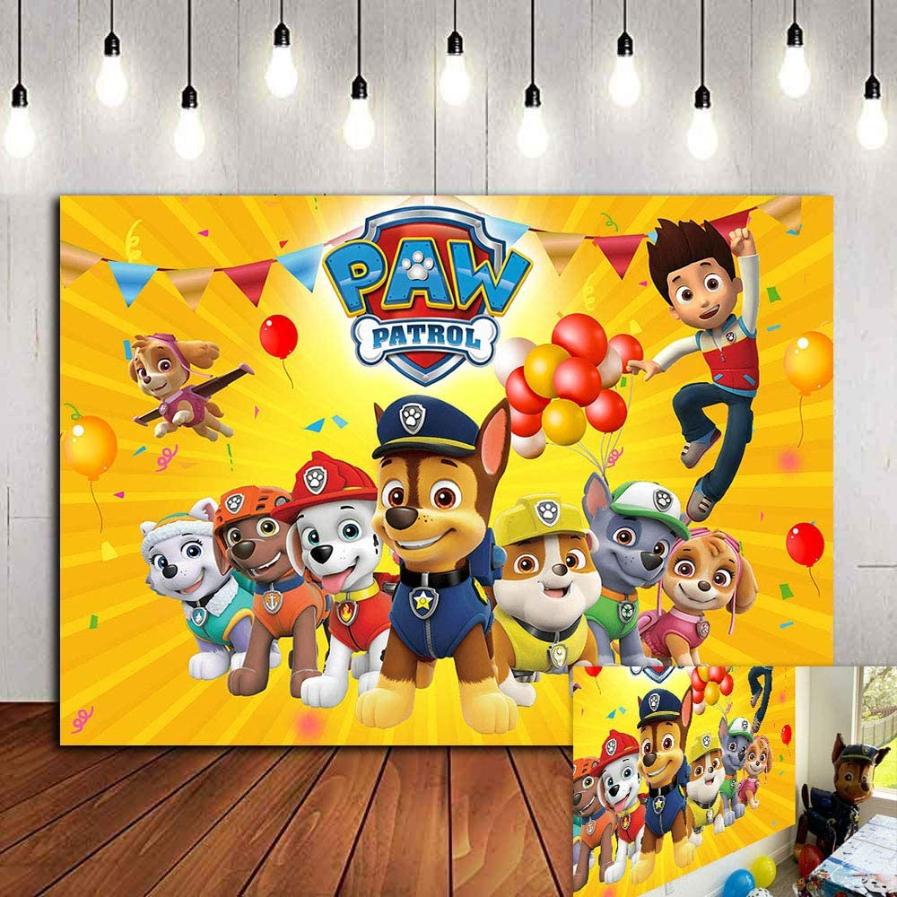 Paw Patrol Happy Birthday Scene Setter Banner Wall Decoration Puppy Pets
