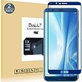 [2-Pack]Huawei Honor V10 /View 10 Pellicola Protettiva, EasyULT 2 Pack Copertura Completa Pellicola Protettiva in Vetro Temperato per Huawei Honor V10 /View 10 -Blu