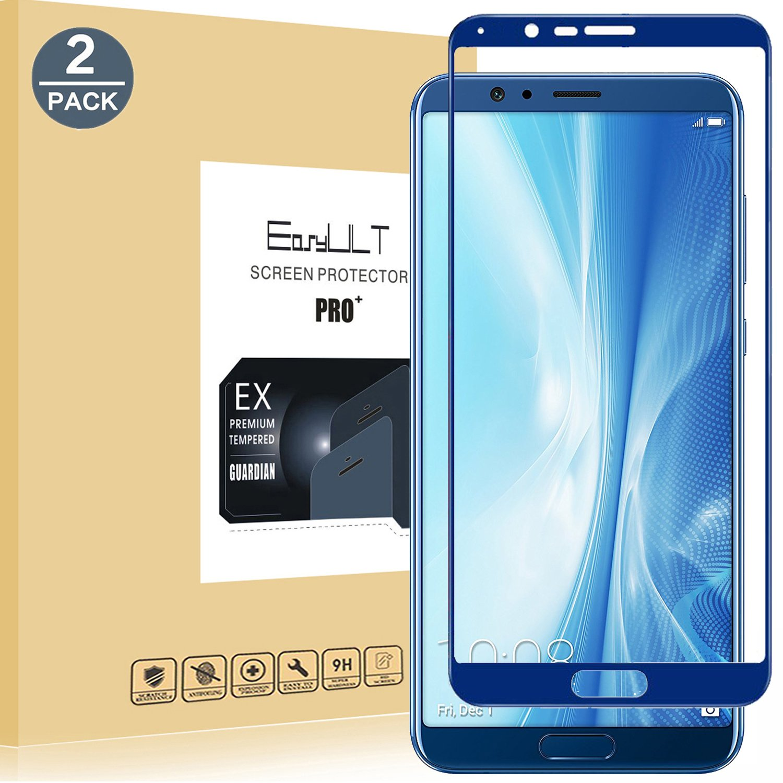 EasyULT Protector de Pantalla para Huawei Honor V10 /View 10 [2 Pack], Cobertura Completa Vidrio/Cristal Templado para Huawei Honor V10 /View 10 -Azul: ...