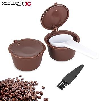 Xcellent GlobalPack de 2 Cápsulas Reutilizables Juego de Cápsula y filtro para Nescafe Dolce Gusto HG229: Amazon.es: Electrónica
