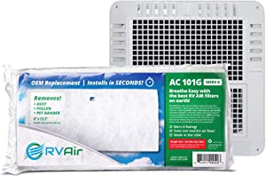 RV Air RV AC Filter | AC 101G MERV 6 Air Filters for RV Air Conditioner | Made in USA OEM Filter to Upgrade or Replace Standard RV Air Conditioner Filters (1 Filter, AC 101G)