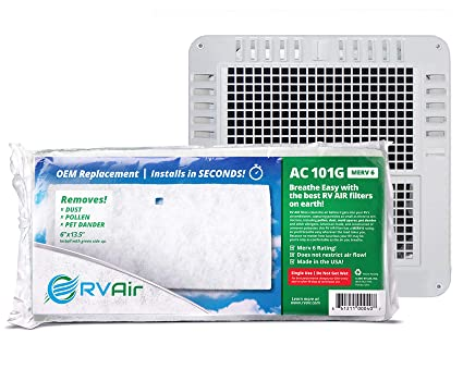RV Air RV AC Filter - AC 101G MERV 6 Air Filters for RV Air Conditioner |  Made in USA OEM Filter to Upgrade or Replace Standard RV Air Conditioner