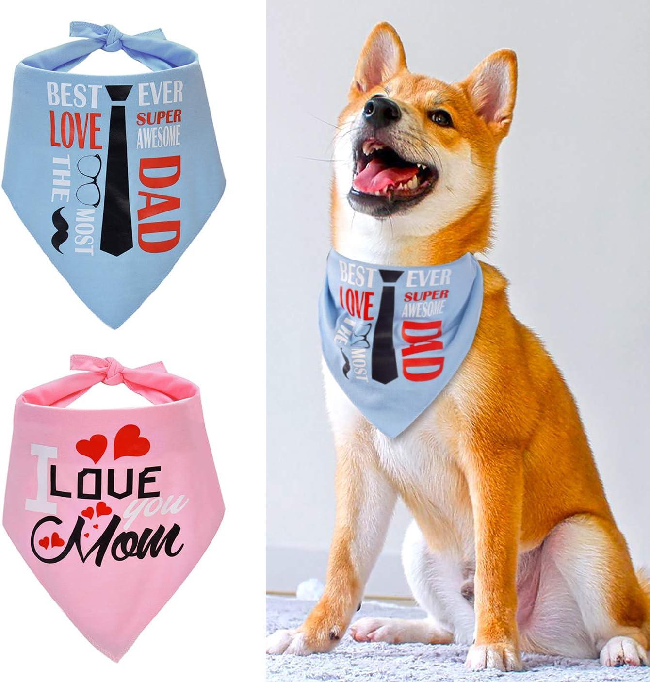 PERSONALISED BLUE MULTI NAME PRINT SOFT FEEL DOG PET NECK SCARF BANDANA