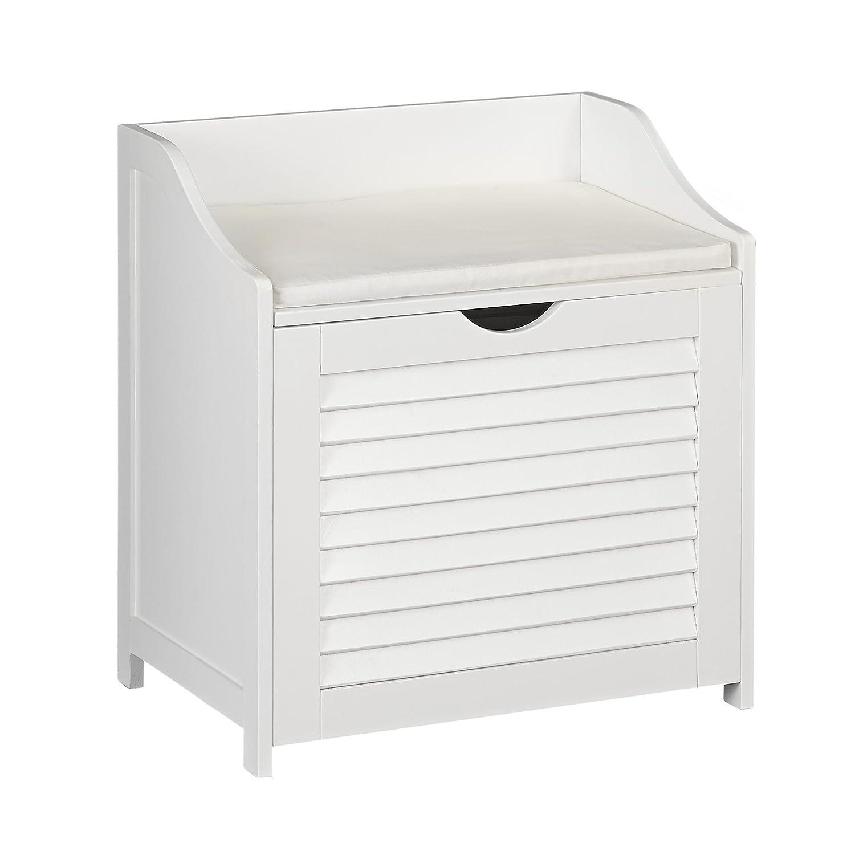 Amazon.com: Household Essentials Single Load Hamper Cabinet Seat ...