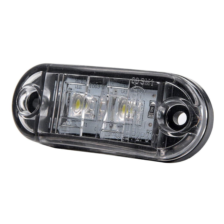 MASO c/ôt/é lumi/ères LED lat/érales Feux de gabarit Indicateur de Position c/ôt/é Lampe 12/V 24/V Universel pour remorque Van Caravan Camion de Voiture Bus