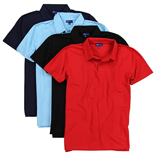 e4b4318c Urban Boundaries Men's Pique Polo Shirt Bulk Pack (Bulk Colors, X-Large)