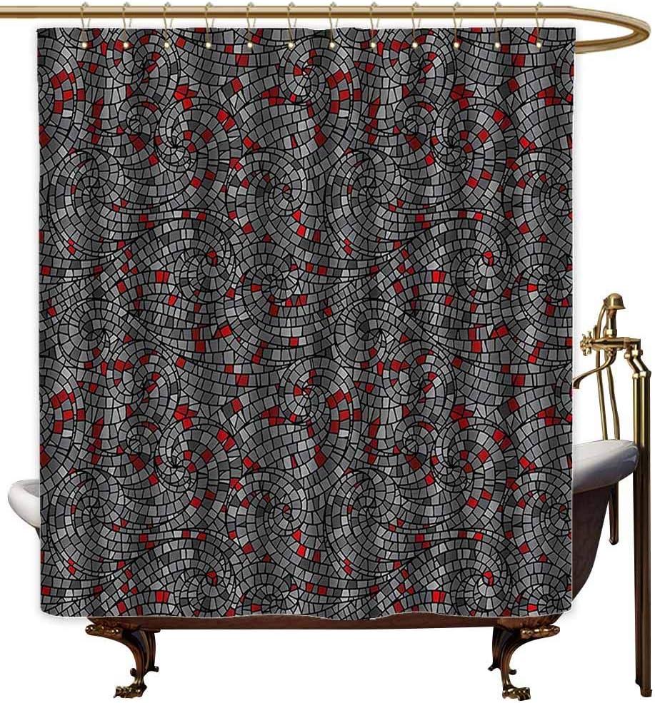 Cortinas de ducha extralargas para baño geométrico, diseño moderno con formas cuadradas triangulares hechas con estampado artístico de rayas, caléndula y cortina para alcachofa de ducha pequeña: Amazon.es: Hogar