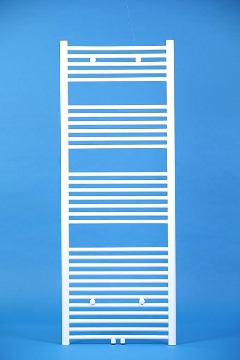 Badheizk/örper Mittelanschluss Handtuchheizk/örper Handtuchtrockner gerade wei/ß 1600mm x 600mm