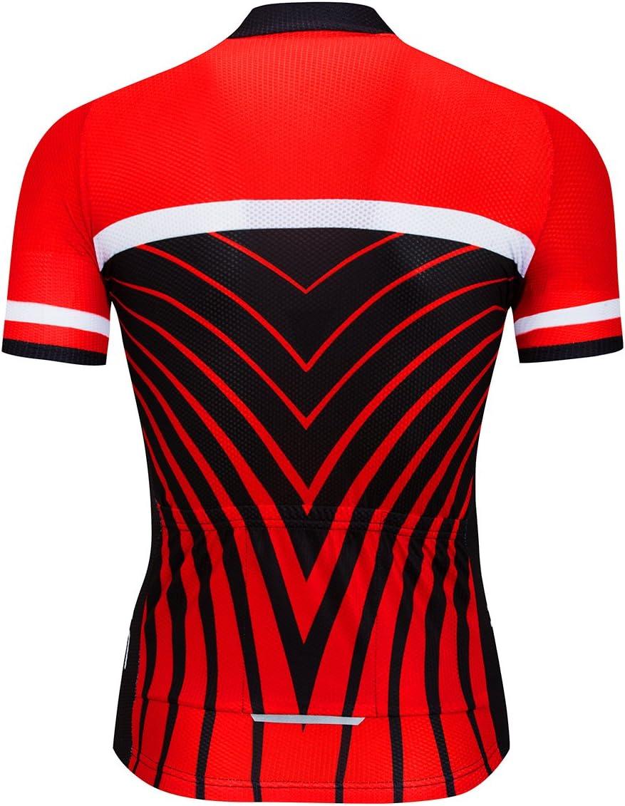 logas Rayas de Verano de Ciclismo Jersey F/ácil Secado r/ápido Ciclismo Hombres//Mujeres 5/Colores