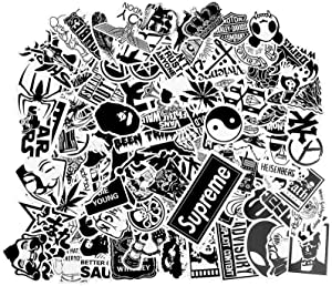 Stickers [100 pcs], Breezypals Clear Vinyl Laptop Stickers for Car Motorcycle Bicycle Luggage Graffiti Patches Skateboard Wall Deacls
