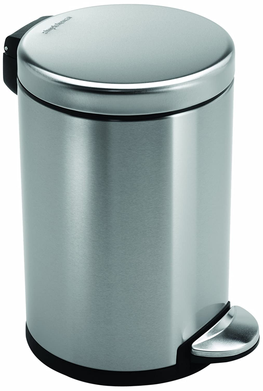 simplehuman Deluxe Mini Round Pedal Bin with Fingerprint-Proof ...