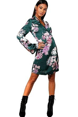 Bouteille Femmes Megan robe de Kimono cache-cœur imprimé Floral Oriental  PREMIUM - 10 a74e4437855