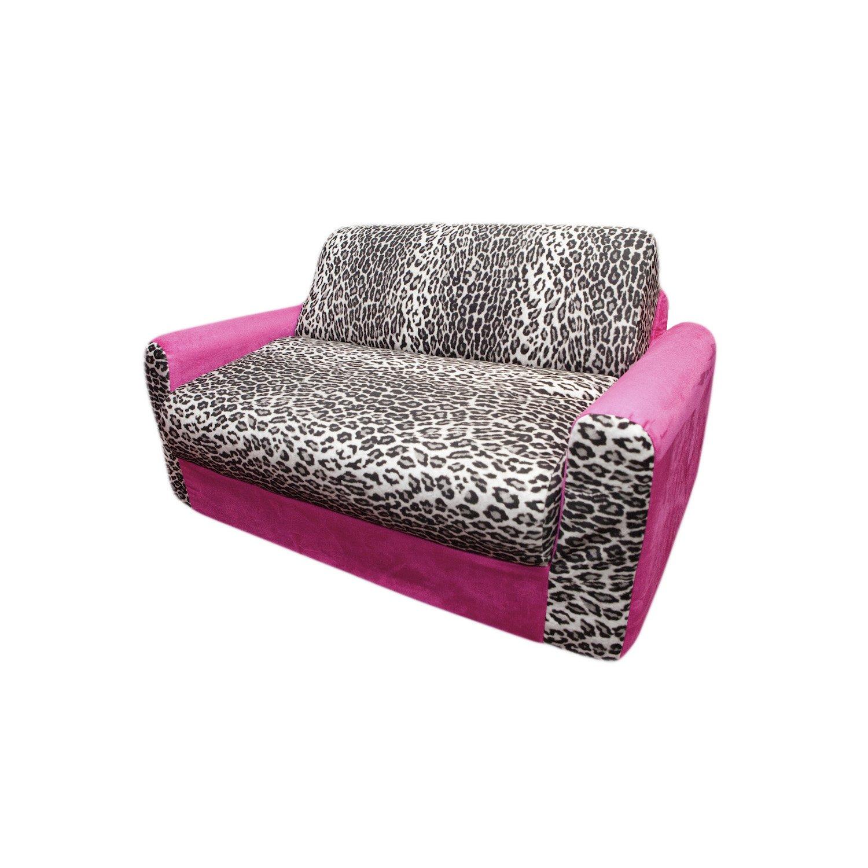 Fun Furnishings Sofa Sleeper, Pink Leopard by Fun Furnishings