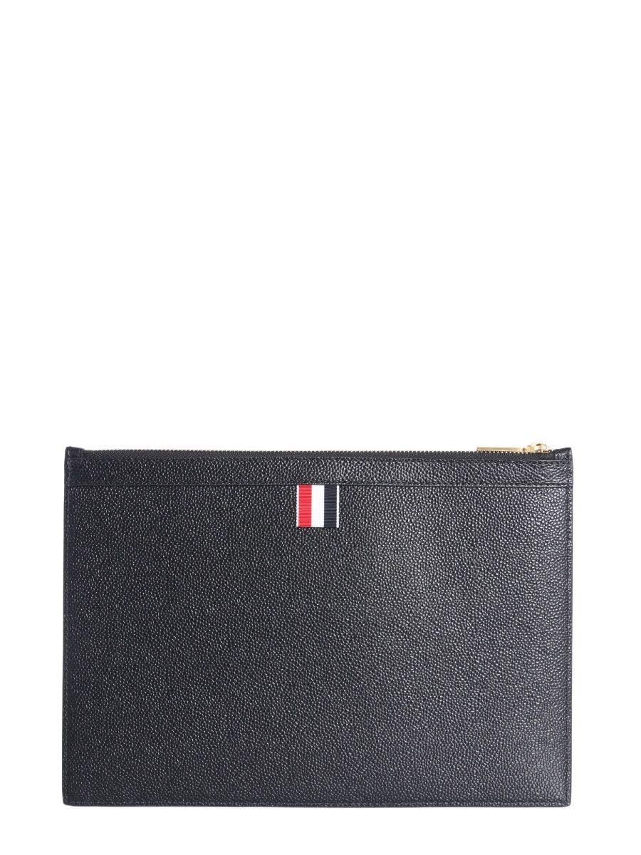 Thom Browne Men's Mac075a04847001 Black Leather Cover