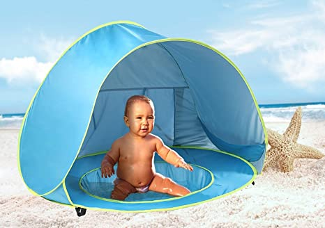 MonoBeach Baby Beach Tent Pop Up Portable Shade Pool UV Protection Sun Shelter for Infant  sc 1 st  Amazon.com : sun tents for infants - memphite.com