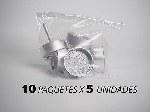 Sanfor 75015 Caja 50 embudo cafetera aluminio O.L. 9 tazas granel ...