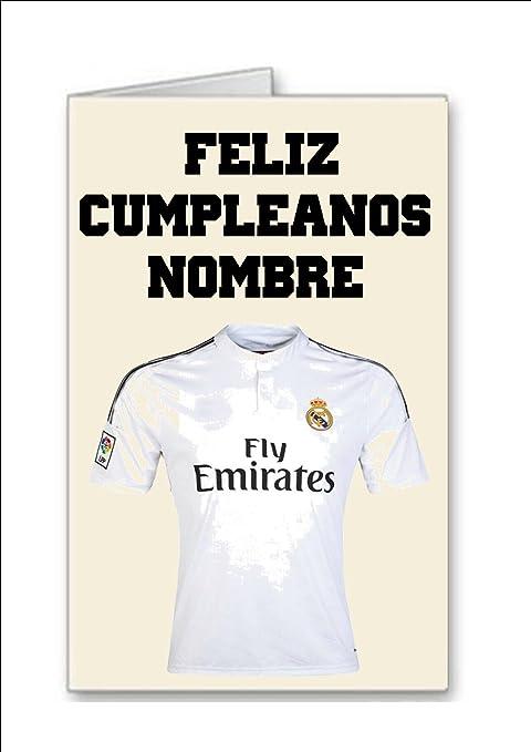 Tarjeta De Cumpleanos Del Equipo De Futbol De Real Madrid Nombre