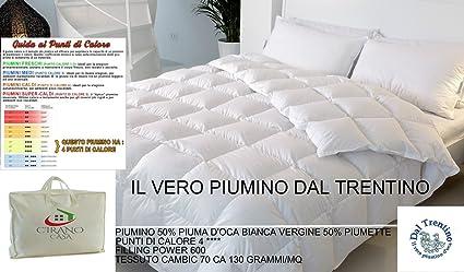 Piumone Matrimoniale D Oca.Il Vero Piumino D Oca Del Trentino Matrimoniale Made In Italy