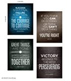 Amazon Price History for:Quotes Motivational Inspirational Happiness Decorative Poster Print for Courage, Think You Can, Great Things, Victory, Persevering 8 x 10 Inch Set of 4